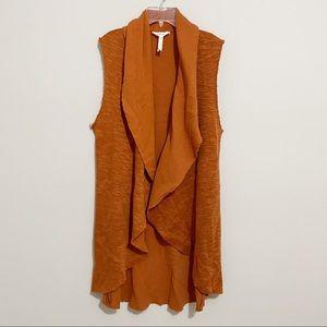 Matilda Jane Burnt Orange Run Through Vest Assymet